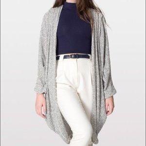 American Apparel grey boucle shawl cardigan